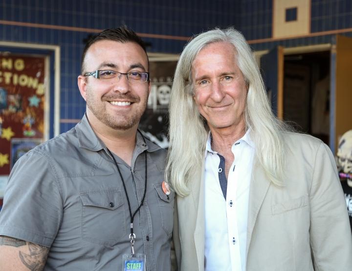Tim Meunier of Sac Horror Film Fest with guest Mick Garris SHFF 2015