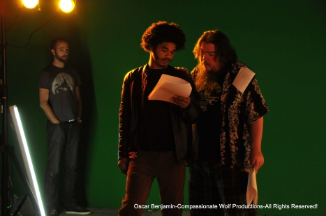 oscar_benjamin_catches_actor_ryan_cicak_stalking_actor_jawara_duncan_and_director_darin_wood_on_set_of_badass_monster_killer